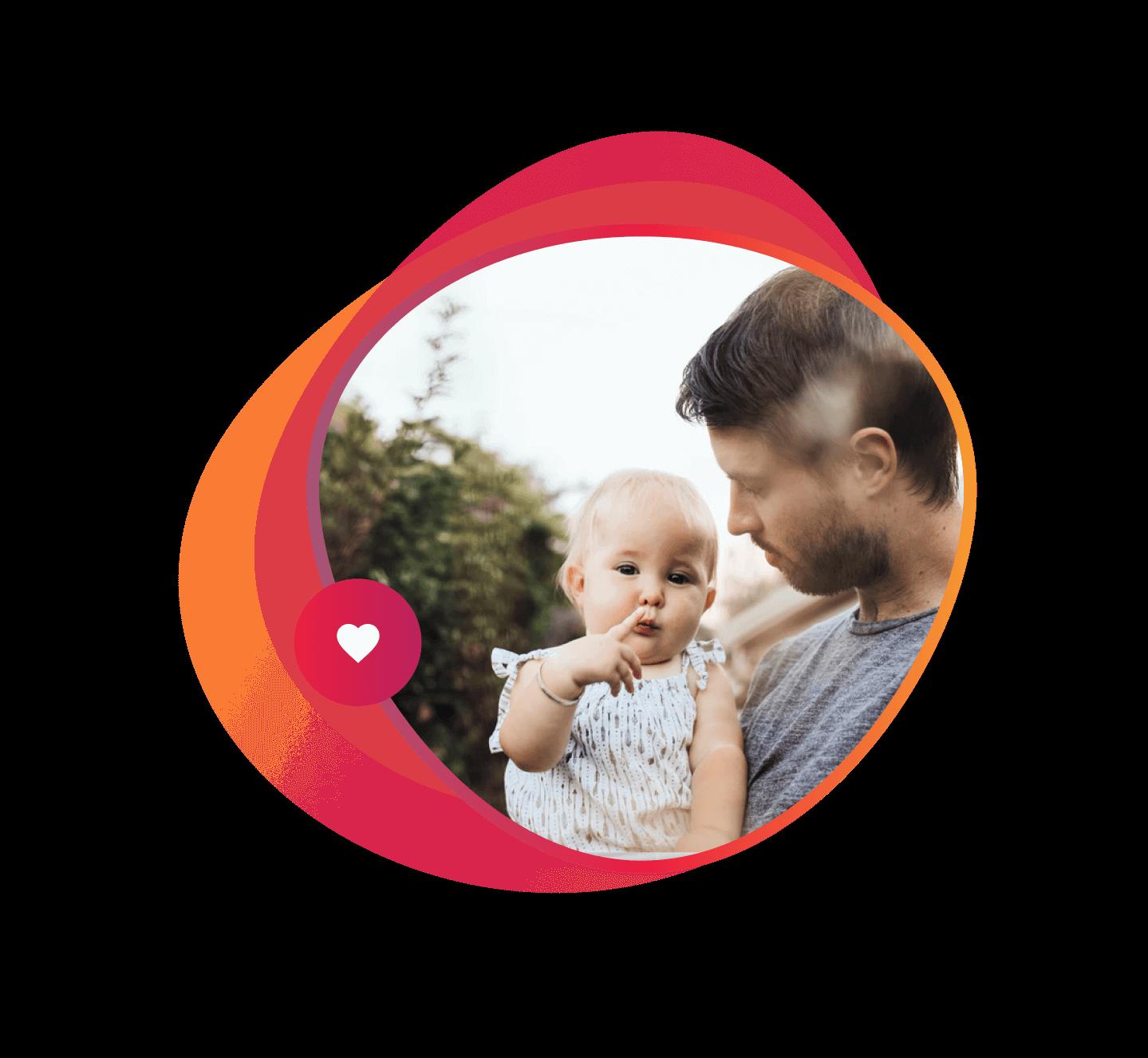 Imagem de pai com filha no colo | Teste de paternidade por DNA